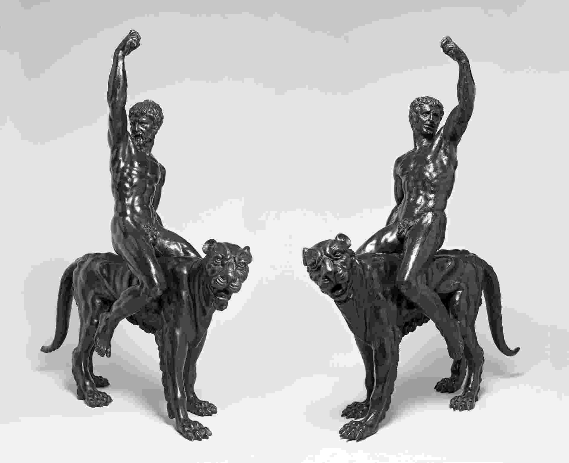 Duas esculturas de bronze escuro expostas em Cambridge, na Inglaterra, podem ser de Michelangelo - Fitzwilliam Museum/Cambridge