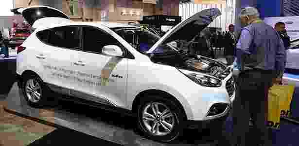 Hyundai Tucson movido a hidrogênio exposto no CES, feira de tecnologia dos EUA - Michael Nelson/EFE