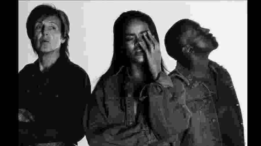 """Rihanna, Kayne West e Paul McCartney lançam clipe de """"Four Five Seconds"""" - Divulgação/VEVO"""