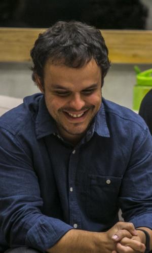 4.fev.2015 - Adrilles sorri durante divulgação do resultado do segundo paredão do