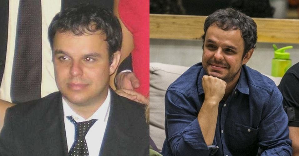 """Montagem - Adrilles em fevereiro de 2009 à esquerda e agora no """"BBB15"""" à direita"""