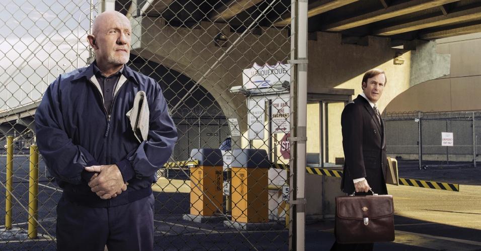"Bob Odenkirk vive o protagonista Saul Goodman na série ""Better Call Saul"", exibida no Brasil pela Netflix"