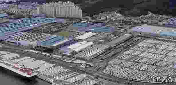 Fábrica da Hyundai em Ulsan, na Coreia do Sul, é a maior do mundo - Divulgação - Divulgação