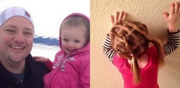 Greg Wickherst fez um curso para aprender a fazer penteados na filha de três anos, Izzy - Reprodução/Facebook