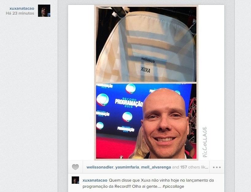 5.fev.2015 - O nadador Fernando Scherer não resistiu e repetiu a piada
