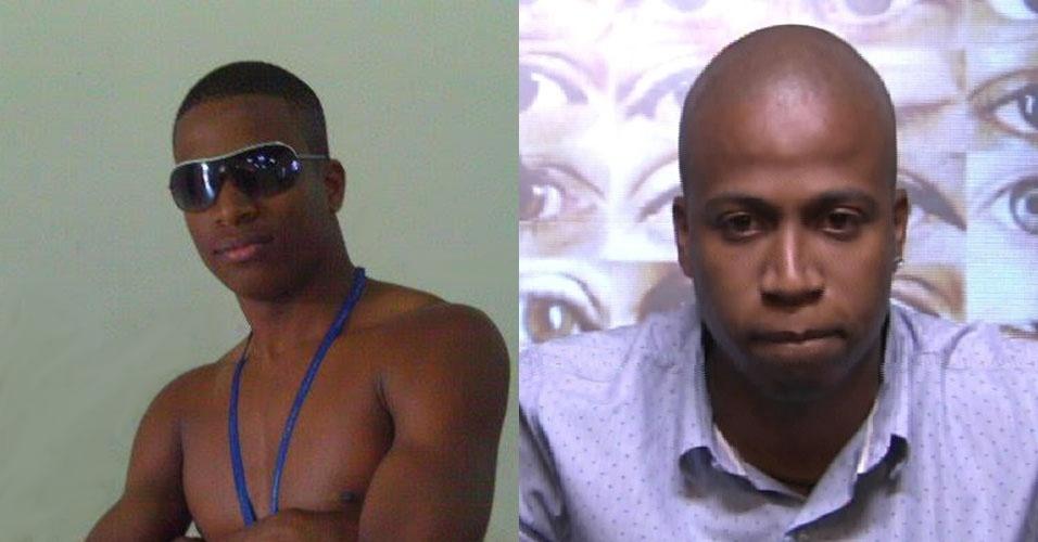 """Montagem - À esquerda, Luan em foto postada em 2010 no facebook e à direita na casa do """"BBB15"""""""