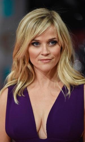 08.fev.2015 - A atriz Reese Witherspoon no tapete vermelho do Bafta 2015