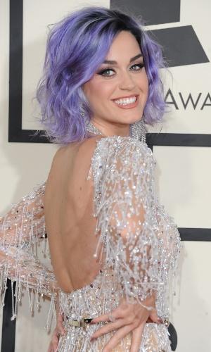 8.fev.2015 - A cantora Katy Perry chega para premiação da 57ª edição do Grammy em Los Angeles