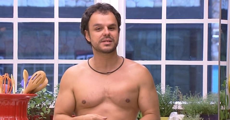 9.fev.2015 - Adrilles desabafa que não quer ver Tamires ficar com Cézar