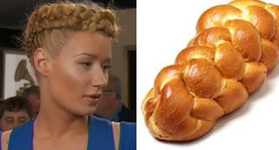 A trança de Iggy Azalea também foi comparada a um pãozinho