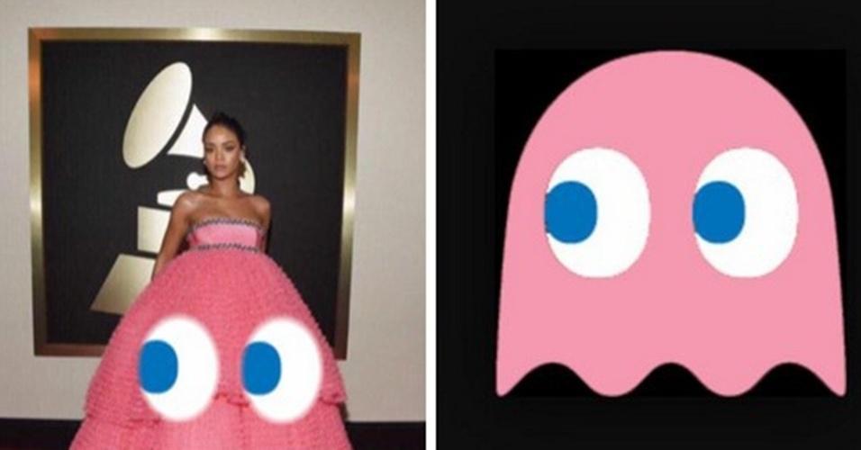 Até a um dos fantasminhas do jogo Pac-Man Rihanna foi comparada