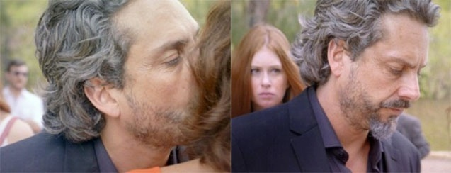 Comendador beija Isis e Marta após sair da prisão