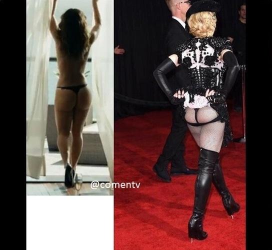 """Poucos dias após o fim da minissérie """"Felizes Para Sempre?"""", os internautas não resistiram e compararam Madonna à Danny Bond, garota de programa interpretada por Paolla Oliveira"""