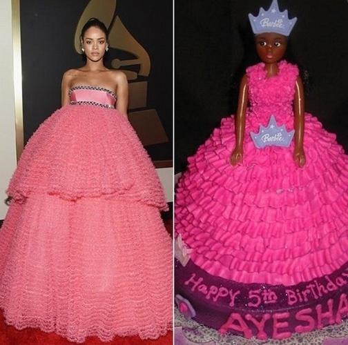 Rihanna foi comparada até a um bolo em formato de boneca