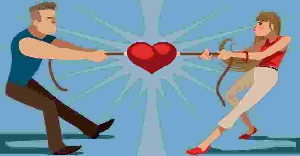 Um casal é, invariavelmente, formado por pessoas distintas, com seus próprios valores, trajetórias e características. Uma das mais perigosas armadilhas da vida a dois é transformar diferenças em rivalidades. Alguns sinais podem indicar se vocês estão disputando poder na relação: uma partida que, infelizmente, tem dois perdedores. Veja se é o seu caso a seguir. Por Heloísa Noronha, do UOL, em São Paulo - Di Vasca/UOL