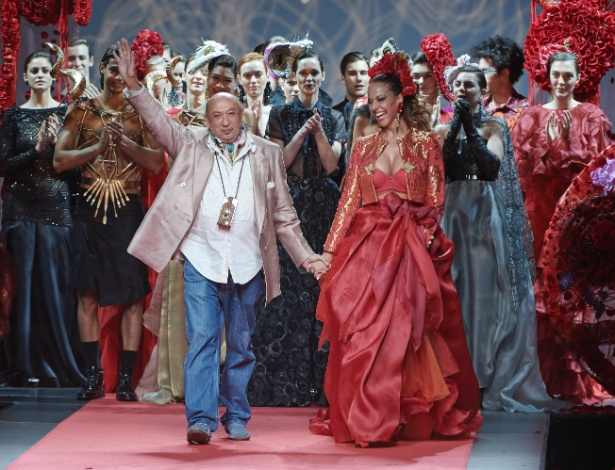 8.fev.2015 - O estilista espanhol Francis Montesinos durante a Semana de Moda de Madri - Getty Images