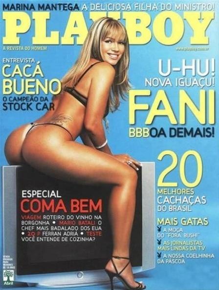Fani na capa da Playboy de abril de 2007