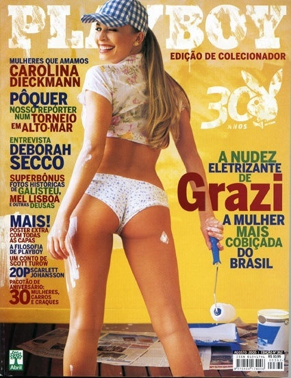 Grazi Massafera é a capa da Playboy de agosto de 2005
