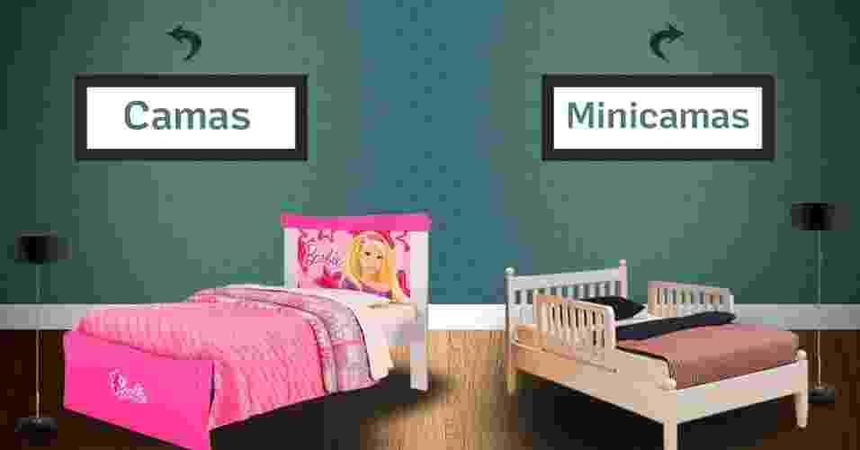 montagem para destacar álbum de Gravidez e Filhos com camas e minicamas - Montagem/Arte UOL
