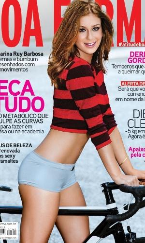 12.fev.2015 - Marina Ruy Barbosa é capa da edição de fevereiro da revista