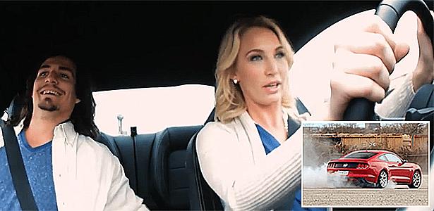 Sem machismo no Mustang: piloto bonitona mostra aos caras quem é que manda - Reprodução