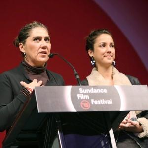 Anna Muylaert e Camila Marlia recebem prêmio no Festival de Sundance 2015 - Kristin Murphy/EFE