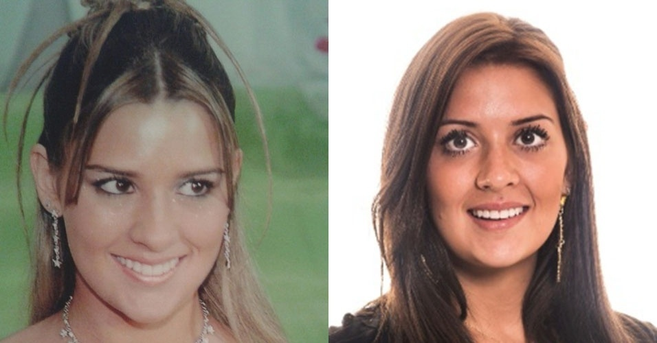 """Montagem - À  esquerda, Tamires aos 15 anos e à direita durante participação no """"BBB15"""""""