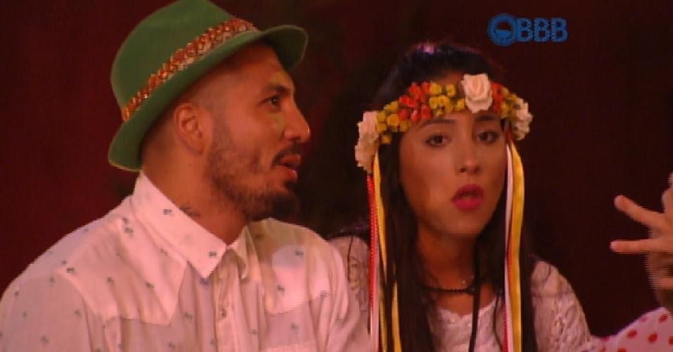 18.fev.2015 - Fernando lembra de Aline em jantar alemão