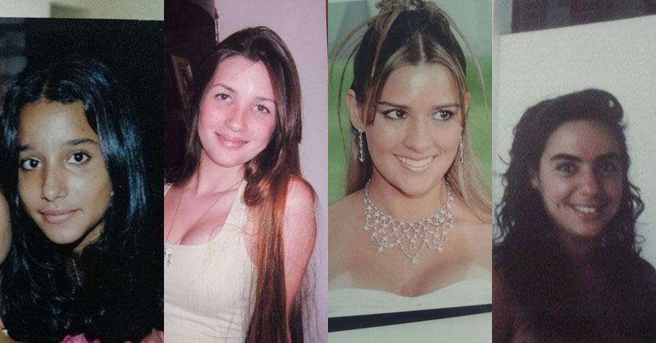 Montagem Talita, Aline, Tamires e Mariza do BBB15 adolescentes