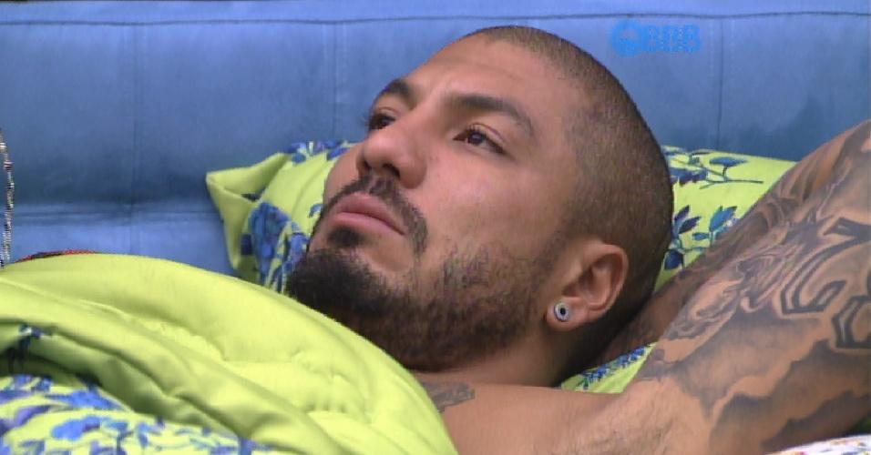 20.fev.2015 - Novo líder, Fernando cogita indicar Amanda, Angélica ou Luan ao paredão