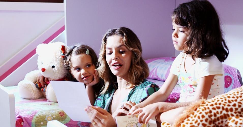 Bianca Rinaldi, mãe das gêmeas Sofia e Beatriz, de 5 anos, participa da série do