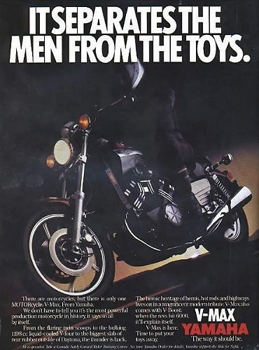 Encarte de propaganda da Yamaha VMax de 1985