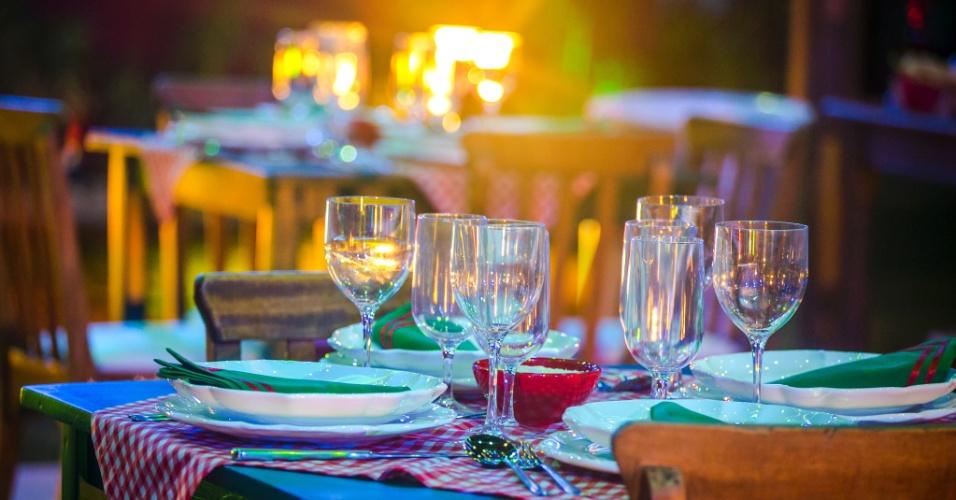 """11.fev.2015 - Terceiro jantar do """"BBB15"""" é inspirado em uma cantina italiana, a Cantina BBB"""