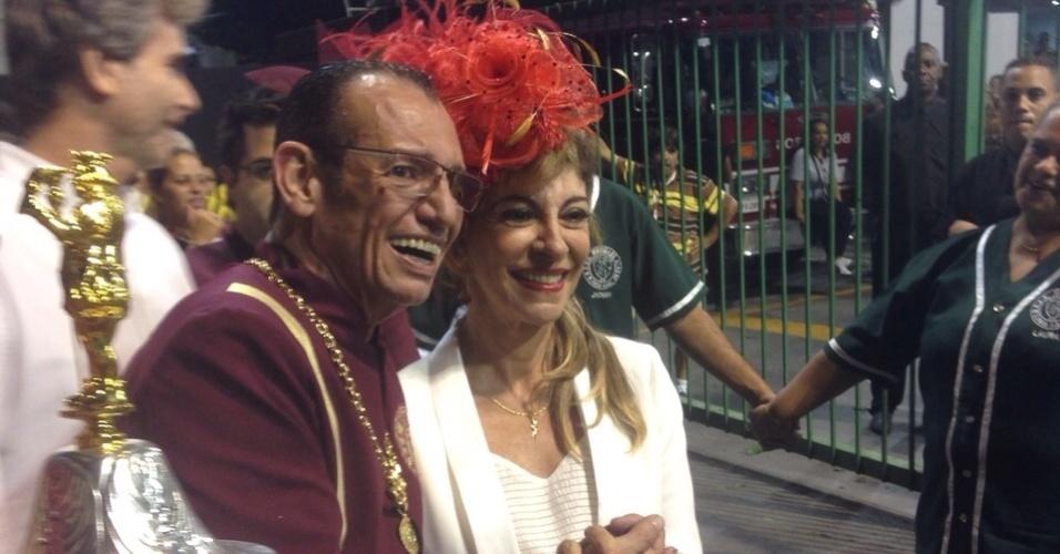 20.fev.2015 - Marília Pêra volta ao desfile das campeãs com a Mocidade Alegre, em São Paulo