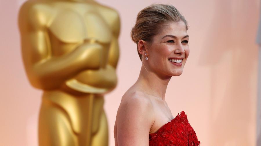 """Rosamund Pike, indicada por melhor atriz por """"Garota Exemplar"""", no Oscar 2015 - Mario Anzuoni/Reuters"""