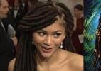 Internautas compara cabelo da cantora e atriz Zendaya no Oscar ao do personagem Predador - Reprodução/Twitter