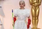 Lady Gaga chega ao tapete vermelho do Oscar com luvas de lavar louça e vira piada - Reprodução