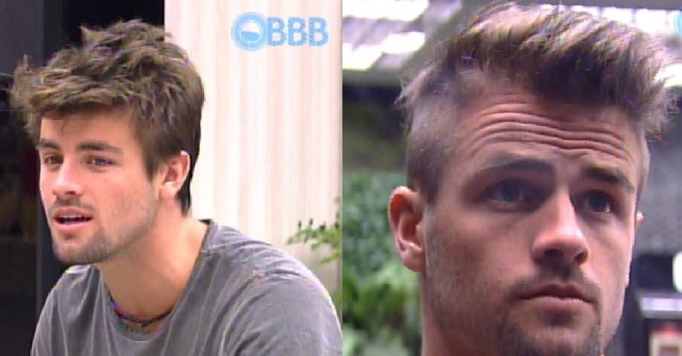 23.fev.2015 - Confira a versão antes e depois de Rafael, que nesta segunda-feira resolveu cortar o próprio cabelo