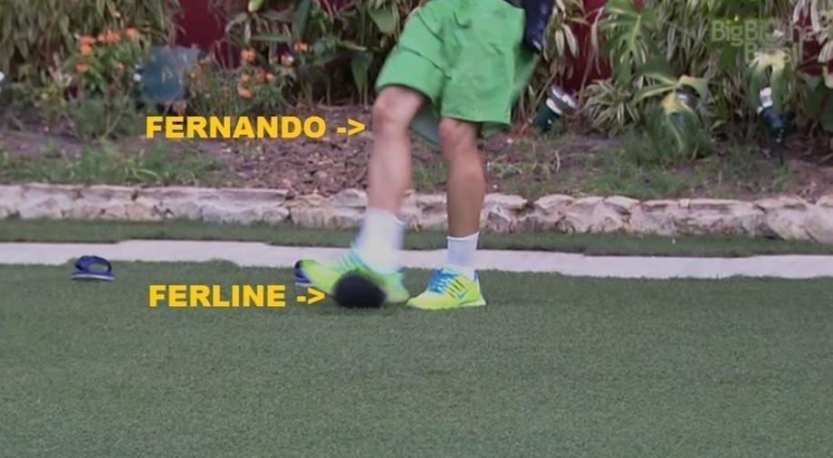 """23.fev.2015 -  O convite de Fernando para Amanda no """"BBB15"""" foi comparado a uma voadora da empresária na torcida Ferline, que apoia o casal Fernando e Aline no reality show"""