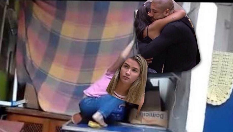 """23.fev.2015 - Para internutas, abraço de Fernando e Amanda no """"BBB15"""" significou """"forninho caindo"""" para Aline, namorada do produtor carioca que está fora do reality show"""