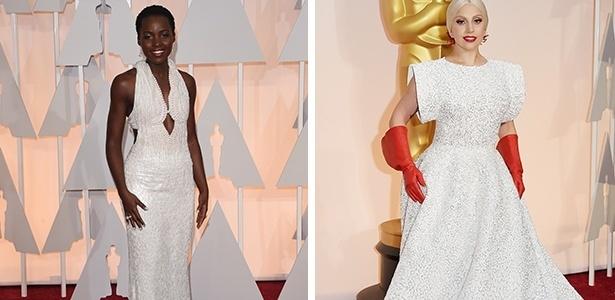 """Lupita Nyong""""o e Lady Gaga no tapete vermelho do Oscar - Getty Images"""