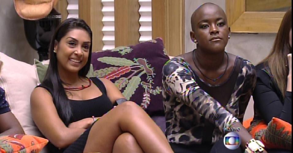 24.fev.2015 - Amanda faz a defesa da emparedada Angélica e fala do comportamento às vezes explosivo da sister