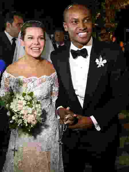 Fernanda Souza e Thiaguinho se casaram na igreja Nossa Senhora do Brasil em São Paulo - Manuela Scarpa e Amauri Nehn/Photo Rio News