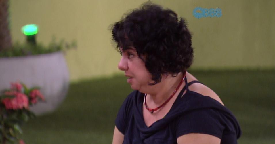 "24.fev.2015 - Mariza está com medo de ficar desempregada por ter aceitado entrar no ""BBB15"""