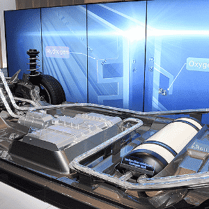 Toyota Mirai FCV na linha de produção - Michael Nelson/EFE