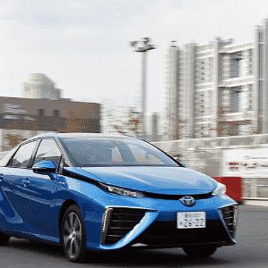 Toyota Mirai FCV na linha de produção - Yoshikazu Tsuno/AFP