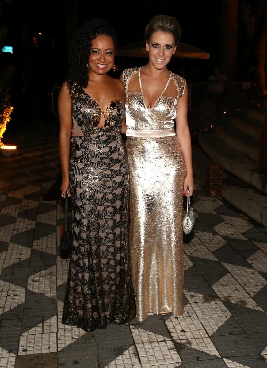 24.fev.2015 - As atrizes Aretha Oliveira e Mariane Oliva, que fizeram a novela