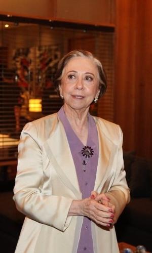 """25.fev.2015 - Fernanda Montenegro na apresentação de """"Babilônia"""""""