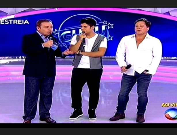 Leonardo e Zé Felipe animam estreia de novo programa de Gugu