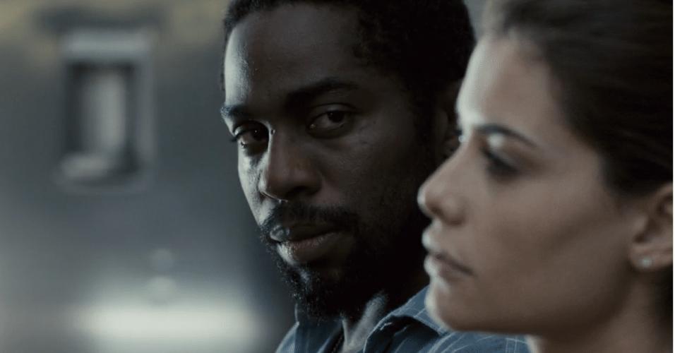 25.fev.2015 - Lázaro Ramos e Alinne Moraes estrelam o suspense 'O Vendedor de Passados', dirigido por Lula Buarque de Holanda